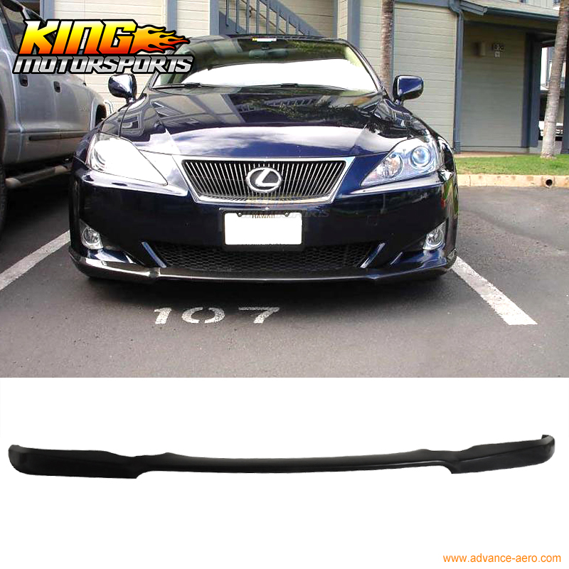 Fit For 06-08 Lexus IS250 IS350 DS Poly Urethane Black Front Bumper Lip Spoiler цены онлайн