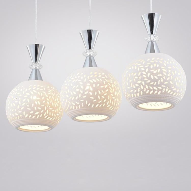 Ceramic glass pendant lamp white hollow out carve lantern pendant towns crystal lamp pendant lights ZS14