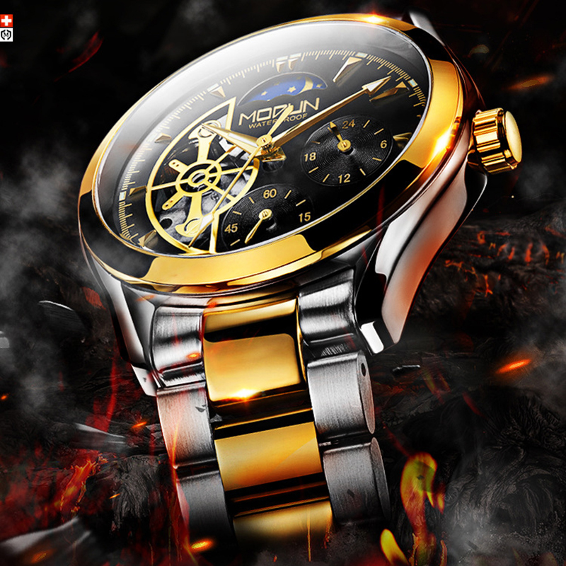 Top Brand Men Automatic Military Watch Skeleton Mechanical Army Watches Men Luxury Stainless Steel Wristwatch Hollow Male Clock hollow brand luxury binger wristwatch gold stainless steel casual personality trend automatic watch men orologi hot sale watches
