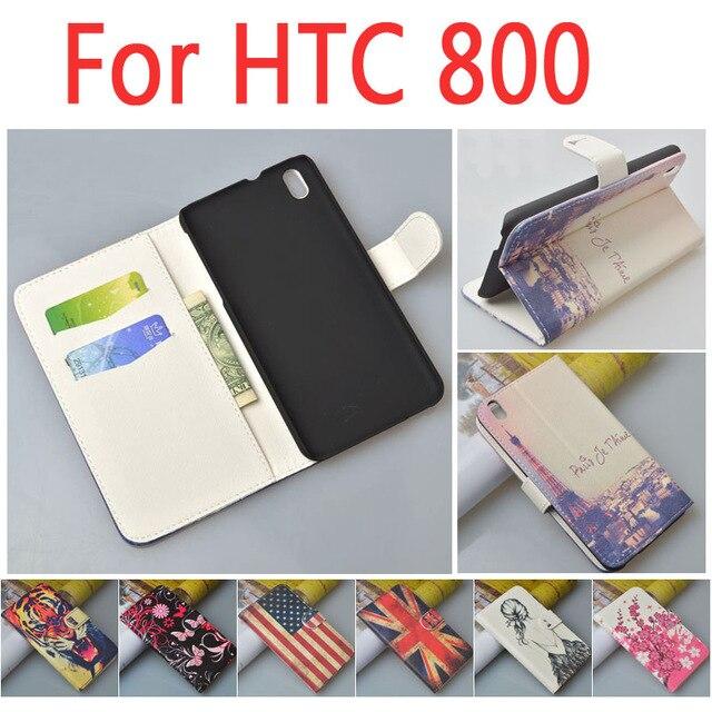Leather case for HTC Desire 816 800 D816W D D816 816W W flip cover case housing