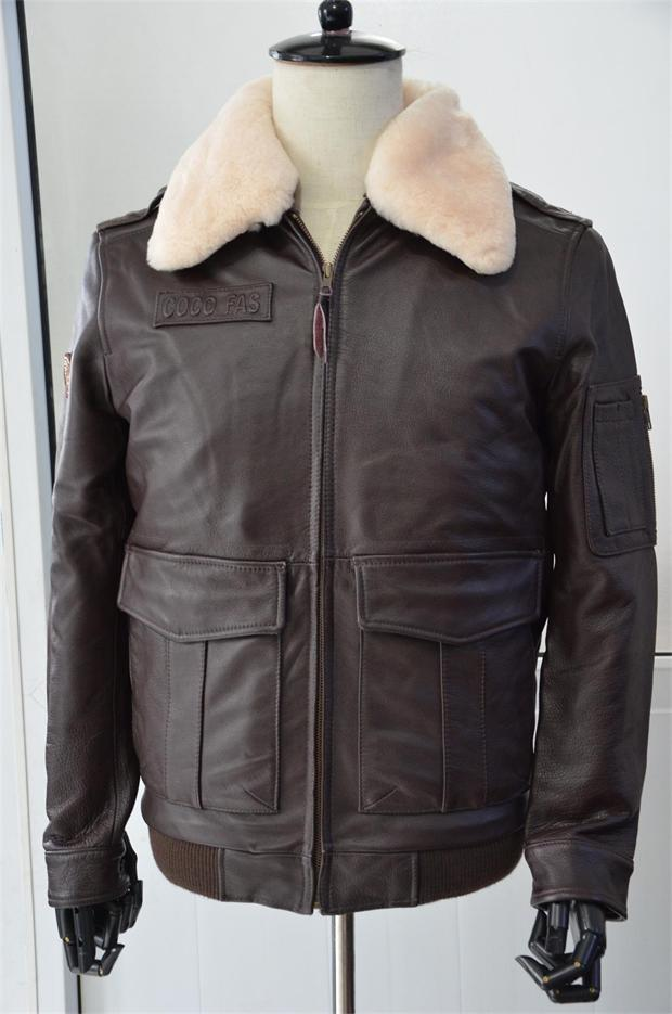 Popular Brown Leather Flight Jacket-Buy Cheap Brown Leather Flight