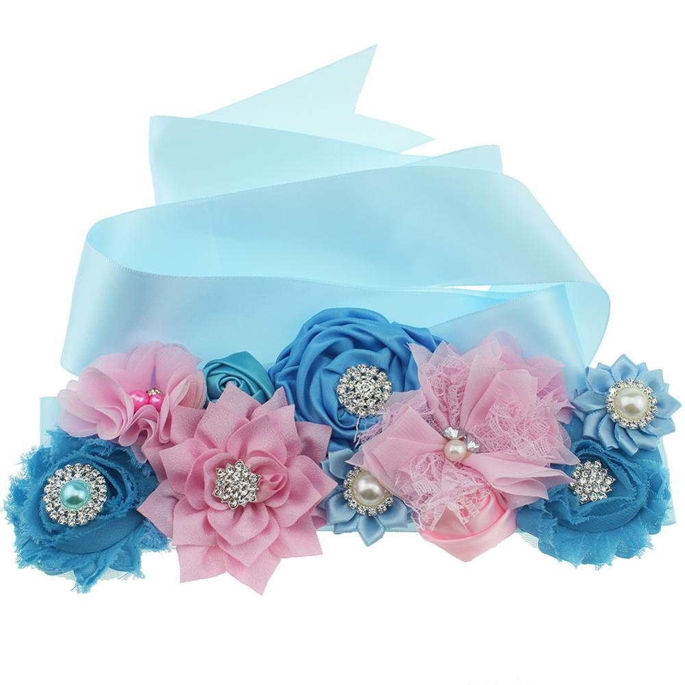 Fashion Wedding Flower Sash Maternity Sash Wedding Flower Belts For Dresses