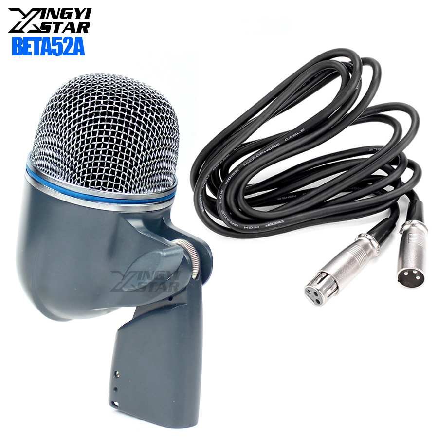 BETA 52A BETA52A Wired Professional Kick Drum Instrument Microphone For Stage DJ Mixer Audio Percussion Snare