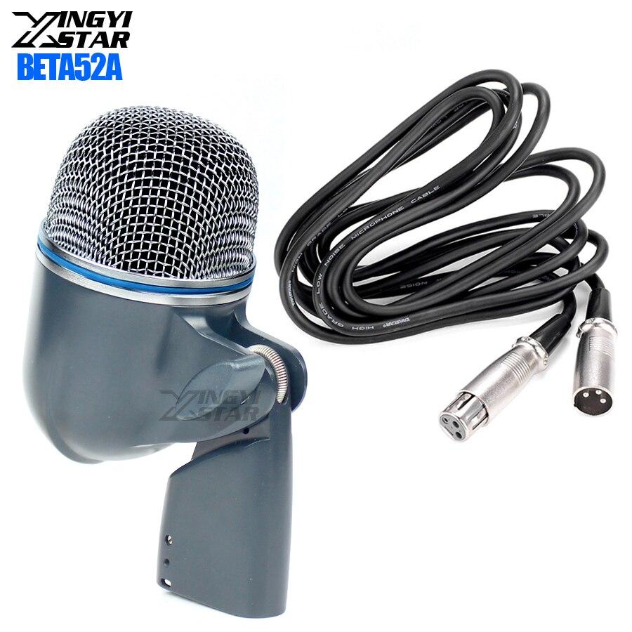 BETA 52A BETA52A Bedrade Professionele Kick Drum Instrument Microfoon Voor Stage DJ Mixer Audio Percussie Snare Tom Bass Versterker-in Microfoons van Consumentenelektronica op  Groep 1