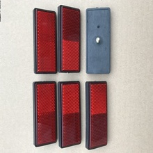 6x красных прямоугольных резьбовых отражателей, прицепов, автофургонов, грузовиков, автобусов, задний/Сигнальный отражающий эффект, плюс 87*32*10 мм