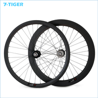 7 TIGER fixed gear bike 23mm Width front 38mm rear 60mm rims fixie wheel Track Carbon Bicycle Clincher or tubular Wheelset