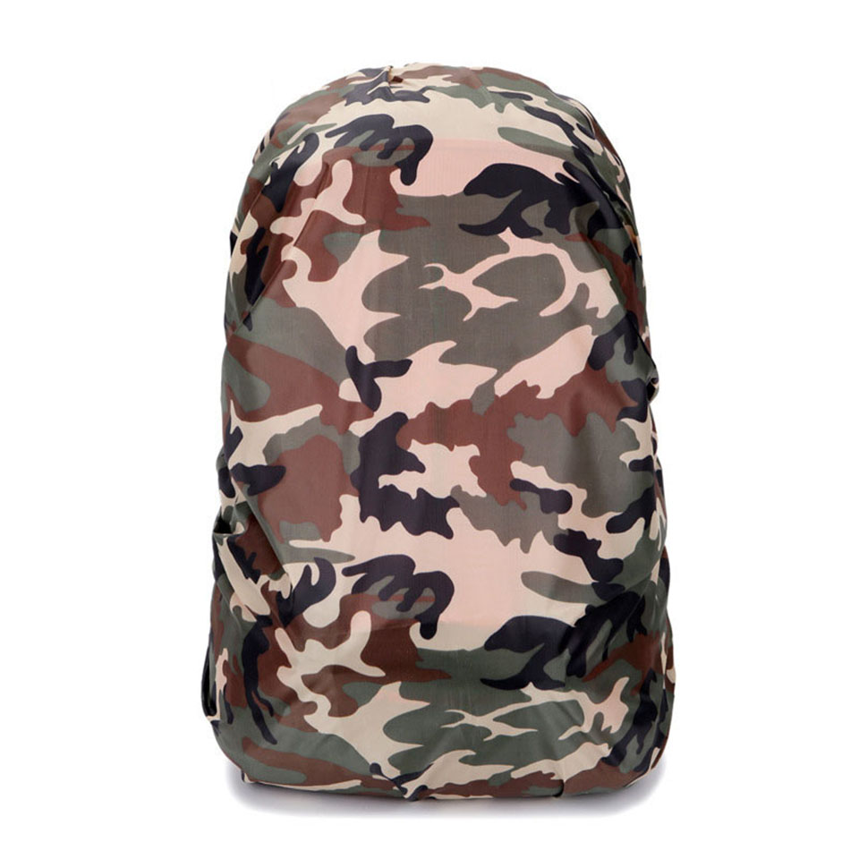 1PCS Nylon Camouflage RainCover 30-40L Protable Waterproof Backpack Bag Rain Cover For Travel Camping Hiking Cycling Outdoor