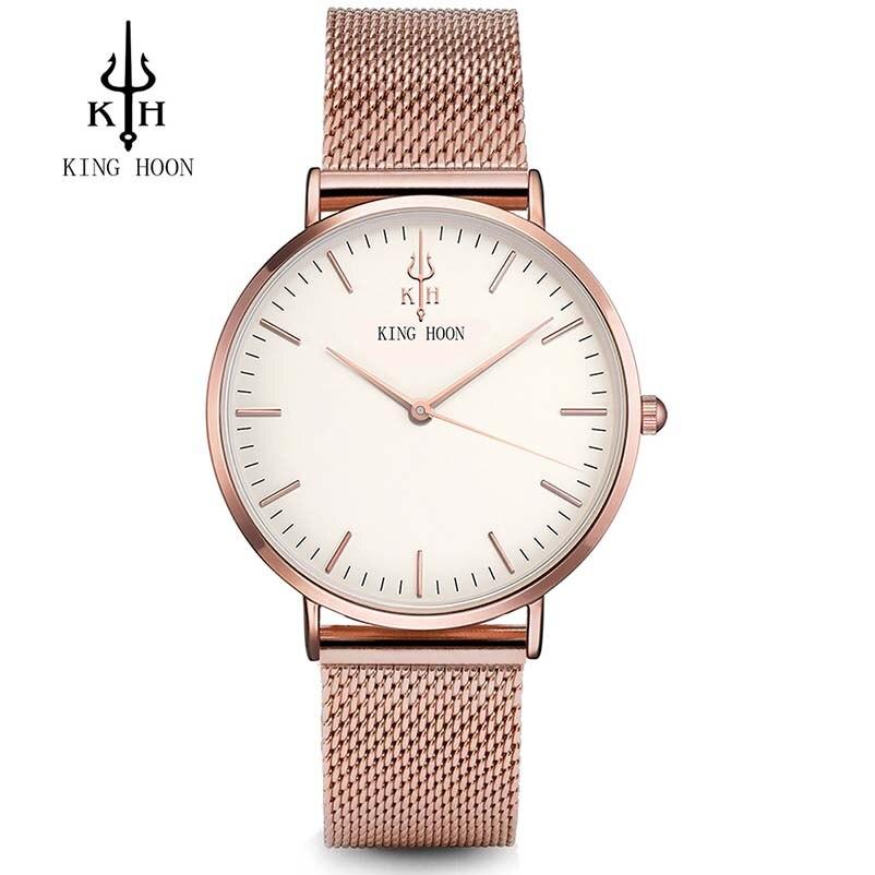 Luxus Quarz Frauen Uhren Designer Wasserdichte Armbanduhr Strass Damenuhr Armband Relogio Feminino KÖNIG HOON