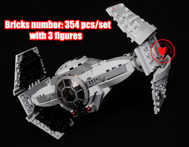 Space Star Wars Force Awakens TIE Advanced model Building Blocks Toys Gifts Kids Toys compatiable with lego kid gift set