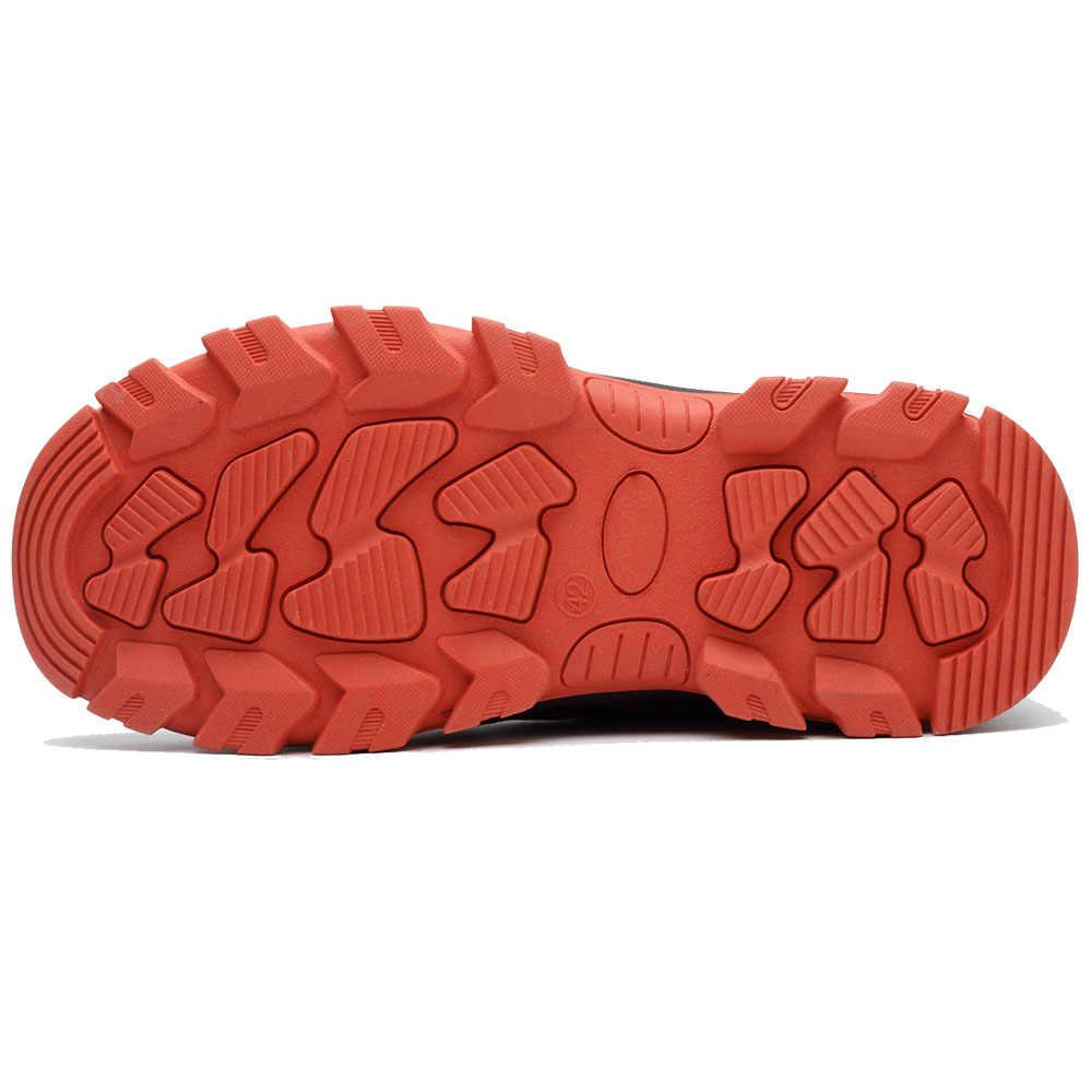 Männer der Winter Stahl Kappe Kappe Sicherheit Schuhe Männer Im Freien Anti-slip Stahl Punktion Beweis Bau Stiefel Arbeit Schuhe