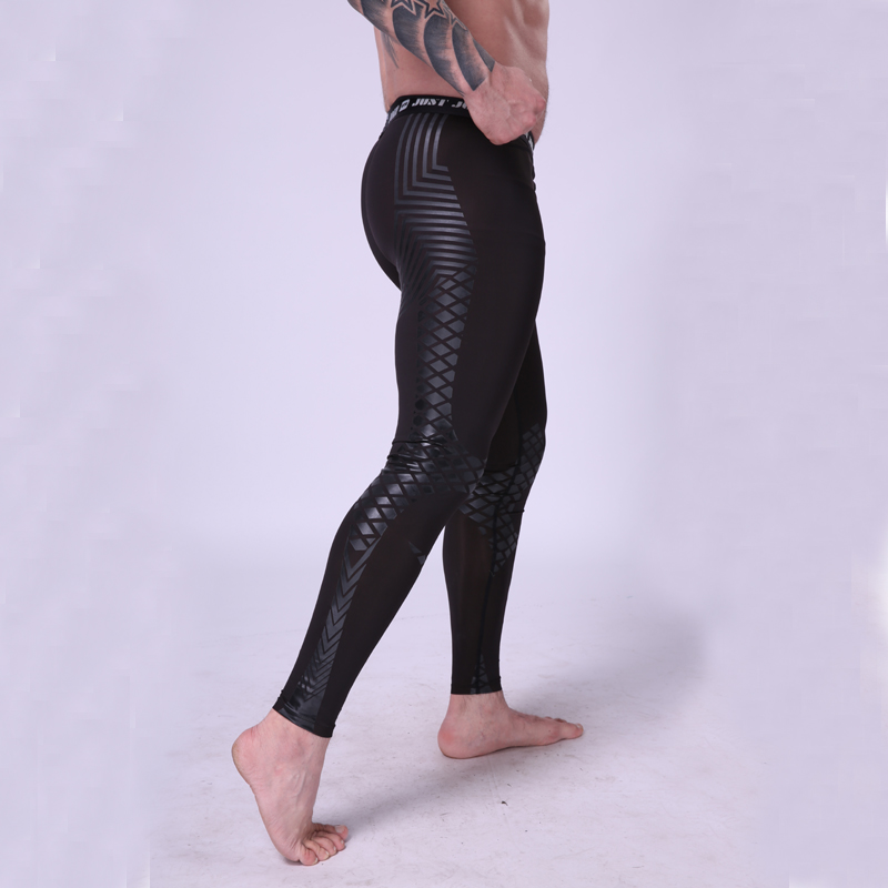 Men Running Tights Compression Pants Nylon Breathable Fabric Cool Printing Water Sports Surfing Gym Training Jogging Leggings 2017 women s yoga pants workout capri leggings running tights side pockets functional pattern patchwork sports leggings jnc2315
