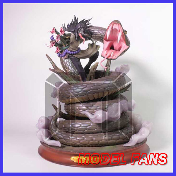 лучшая цена MODEL FANS INSTOCK NARUTO Orochimaru GK resin made statue figure for Collection