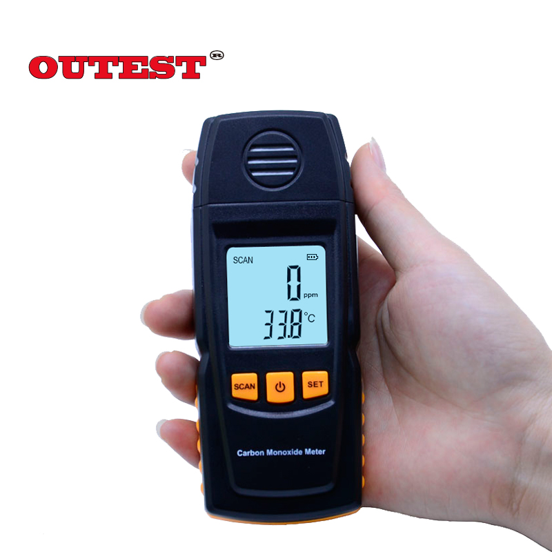 OUTEST digital CO tester Carbon Monoxide Meter with High Precision 0-1000ppm GM8805 Gas Tester Monitor Detector Gauge digital indoor air quality carbon dioxide meter temperature rh humidity twa stel display 99 points made in taiwan co2 monitor