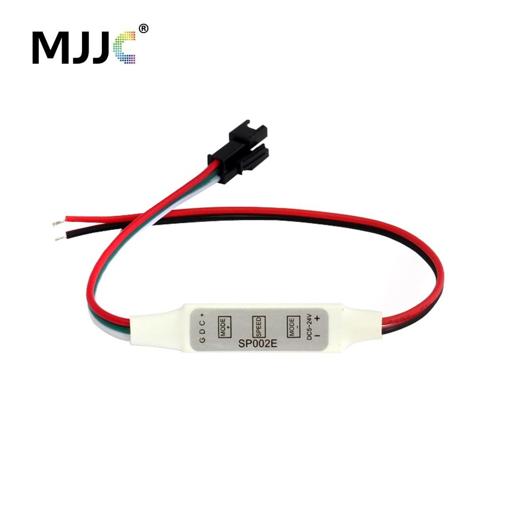 LED Pixel Controller 5V 12V 24V WS2811 WS2812 WS2812B Controller IC 300 tilstande 2048 Pixels til Magic Dreamcolor LED Strip