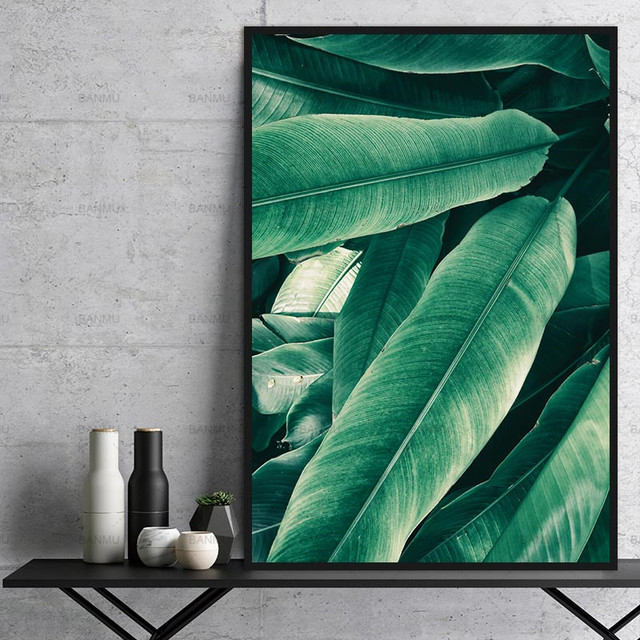 Modular Modern Plant Wall Painting Poster Art Home Green Leaf Canvas Top Sell