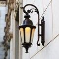 Европейский стиль креативный антикварный Уличный настенный светильник для двора  гостиной  балкона  коридора  современный простой светоди...