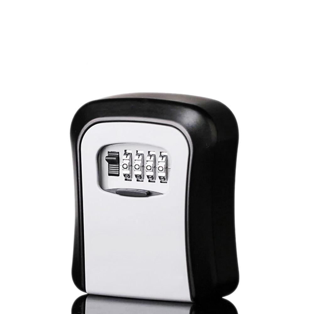 Wall Mounted Digital Key Storage Organize Boxes 4 Digit Combination Lock Spare Keys Organizer Boxes Metal Secret Safe Box 5 Keys