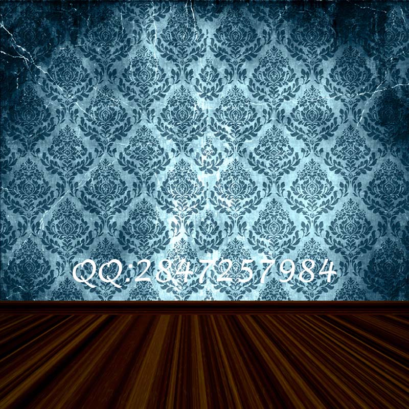 Thin fabric cloth printed photography background damask backdrop F-2451