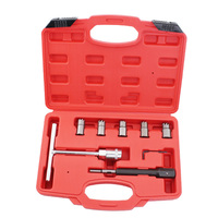 7pcs/set Diesel Injector Nozzle Seat Cutter Cleaner Tool Set UK Professional Carbon Remover Flat Angled Reamer T Handle Set