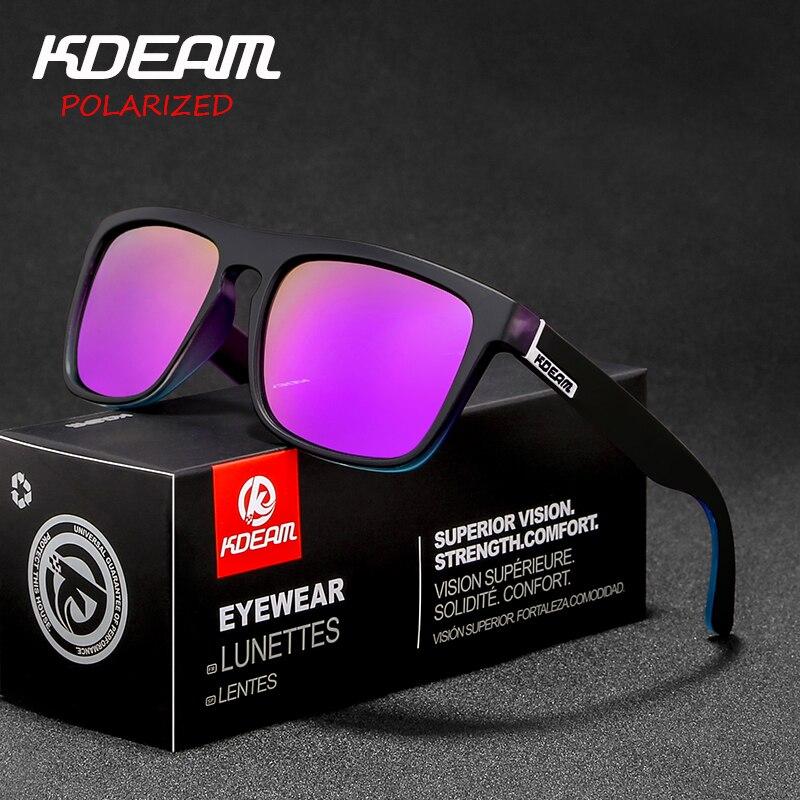 Novo chegou kdeam espelho polarizado óculos de sol dos homens quadrados esporte óculos de sol feminino uv gafas de sol dobradiça de metal uv400 kd156