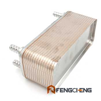 """Homebrew Beer 30 plates wort chiller 1/2\""""Hose Barb plate heat exchanger B3-12A 304 Staineless Steel Free Shipping"""