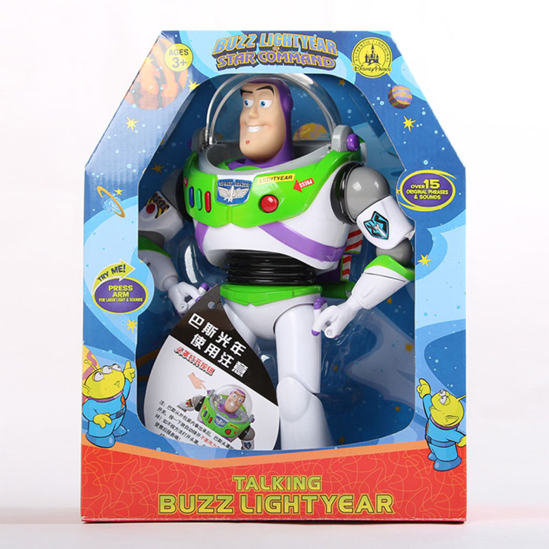 43cm Toy Story 4 Talking Woody Buzz Action Toy Figures Model Toys Children Christmas Gift Free Shipping