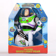 43cm Toy Story 4 Talking Woody Buzz Action Toy Figures Model Toys Children Christmas Gift Free Shipping(China)