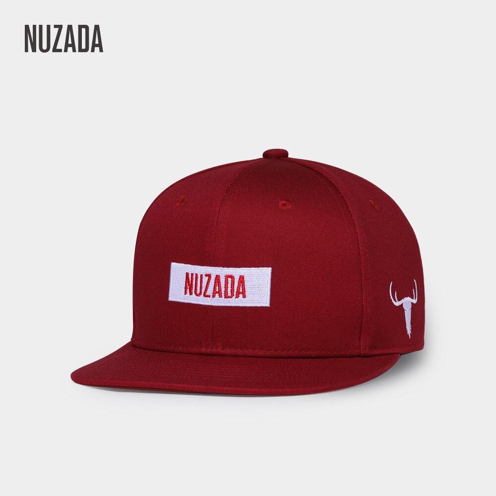 NUZADA Brand LOGO Men Women Couple Hip Hop Cap Vintage Wine Red Spring Summer Autumn Embroidery Cotton Letter Caps