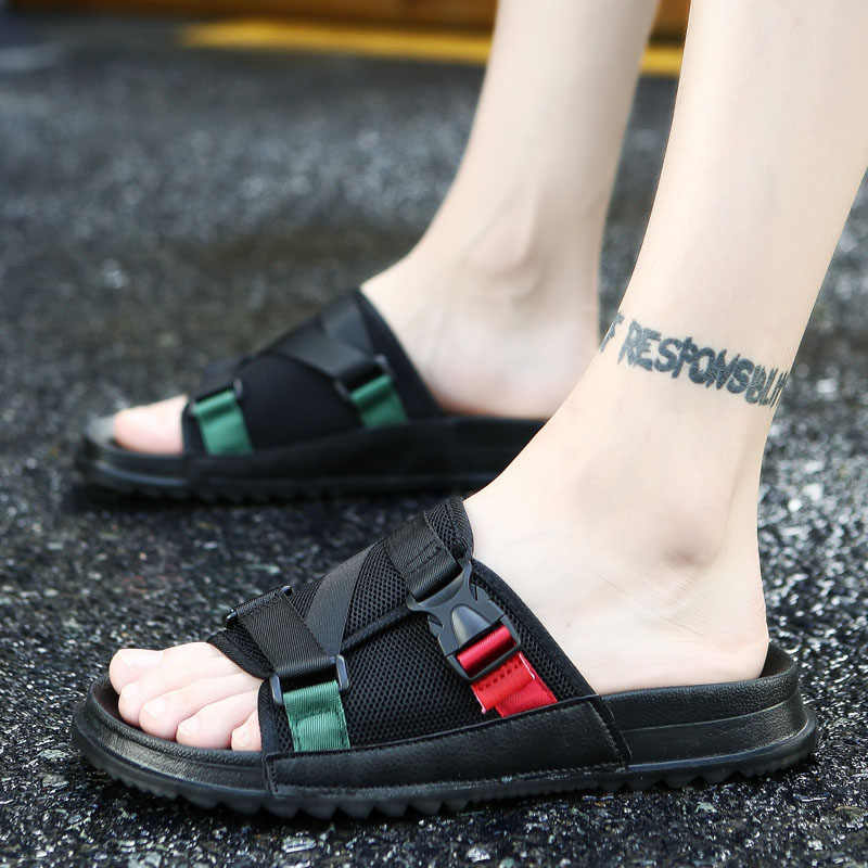 f78c570d49ed Fashion Sandals Men 2018 New Summer Top Quality Beach Shoes Male Causal Shoe  Outdoor Flip Flops