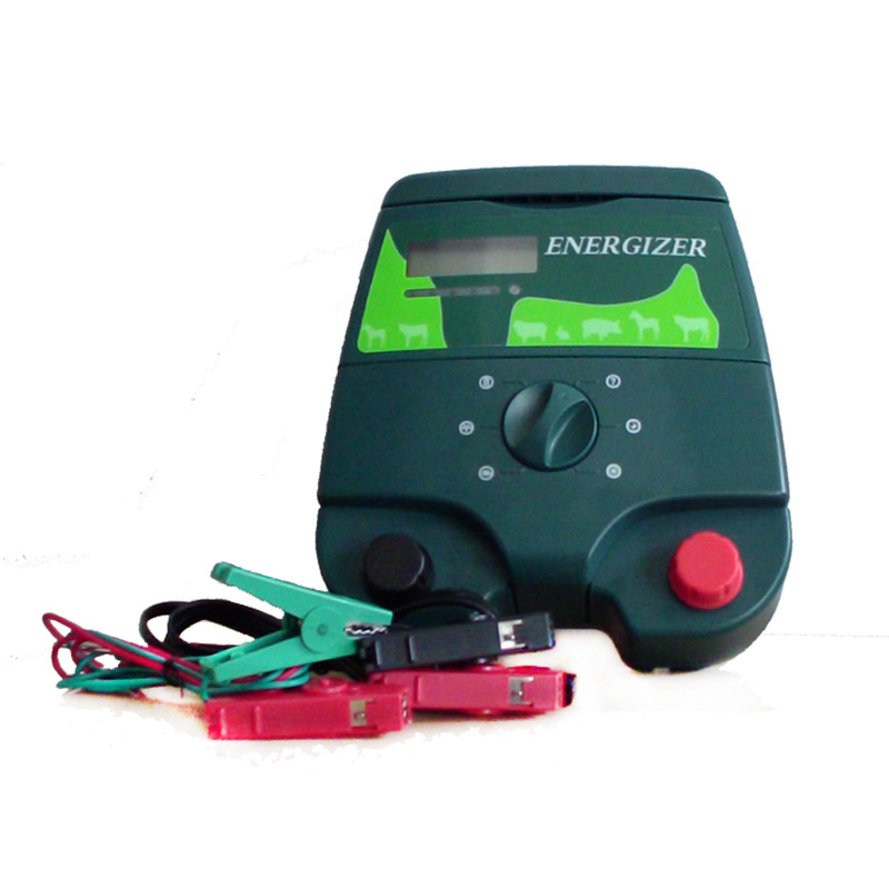ZORASUN 12KV 2J Electric Fence Energizer Energiser Charger with LCD Screen for Farm Protection
