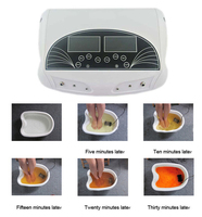 Профессиональный двойной ЖК дисплей ионный DETOX ИОННЫХ Для ванной Spa очистить машина инфракрасный пояса большой ЖК дисплей