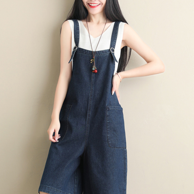 4020 Summer 2019 Women Sling Jumpsuit Wide Leg Suspender Playsuits Female Loose Backless Big Size jumpsuit For Women Streetwear in Rompers from Women 39 s Clothing