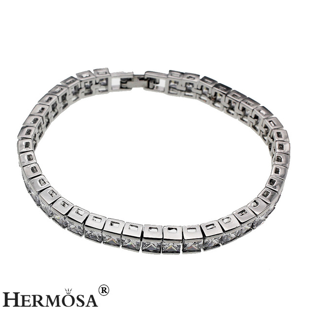 Shiny White Hermosa Jewelry Silver Bracelet 165cm Pretty Women