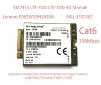EM7455 FDD/TDD LTE Cat6 وحدة 4G بطاقة 4G للكمبيوتر المحمول ثينك باد P50 P50S P40 يوغا L460 T460 T460P T460S-في مودم 3G من الكمبيوتر والمكتب على