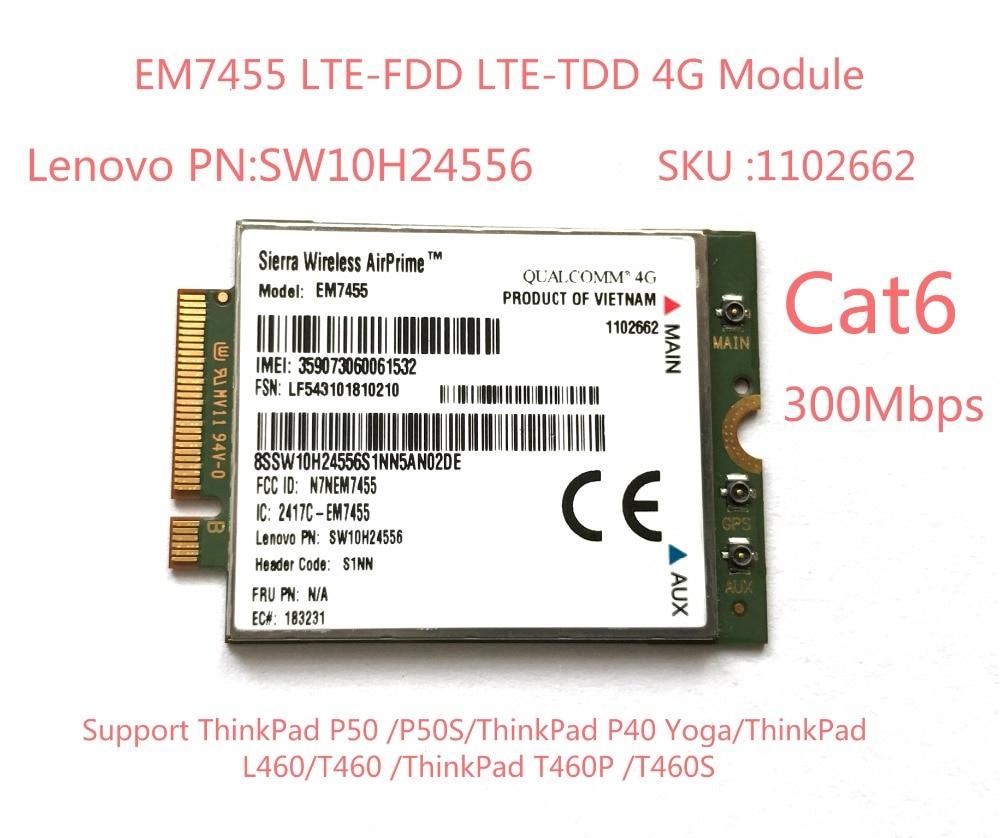 EM7455  FDD/TDD LTE Cat6 4G MODULE 4G CARD For  Laptop ThinkPad P50 P50S P40 Yoga L460 T460 T460P T460S