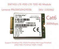 EM7455 Sierra Wireless FDD TDD LTE Cat6 4G MODULE 4G CARD For Lenovo Laptop ThinkPad P50
