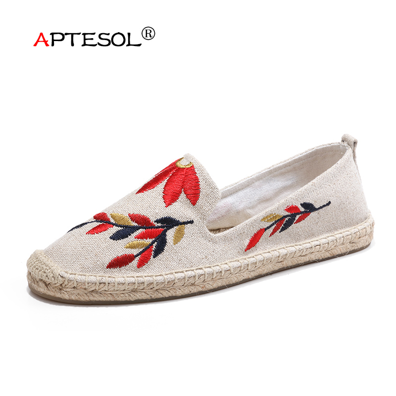 APTESOL New Fashion Women's Hemp Casual Shoes Summer Unisex Multiple Styles Breathable Flats Women Slip-On Non-slip Lazy Shoes summer breathable hollow casual shoes women slip on platform flats shoes fashion revit height increasing women shoes h498 35