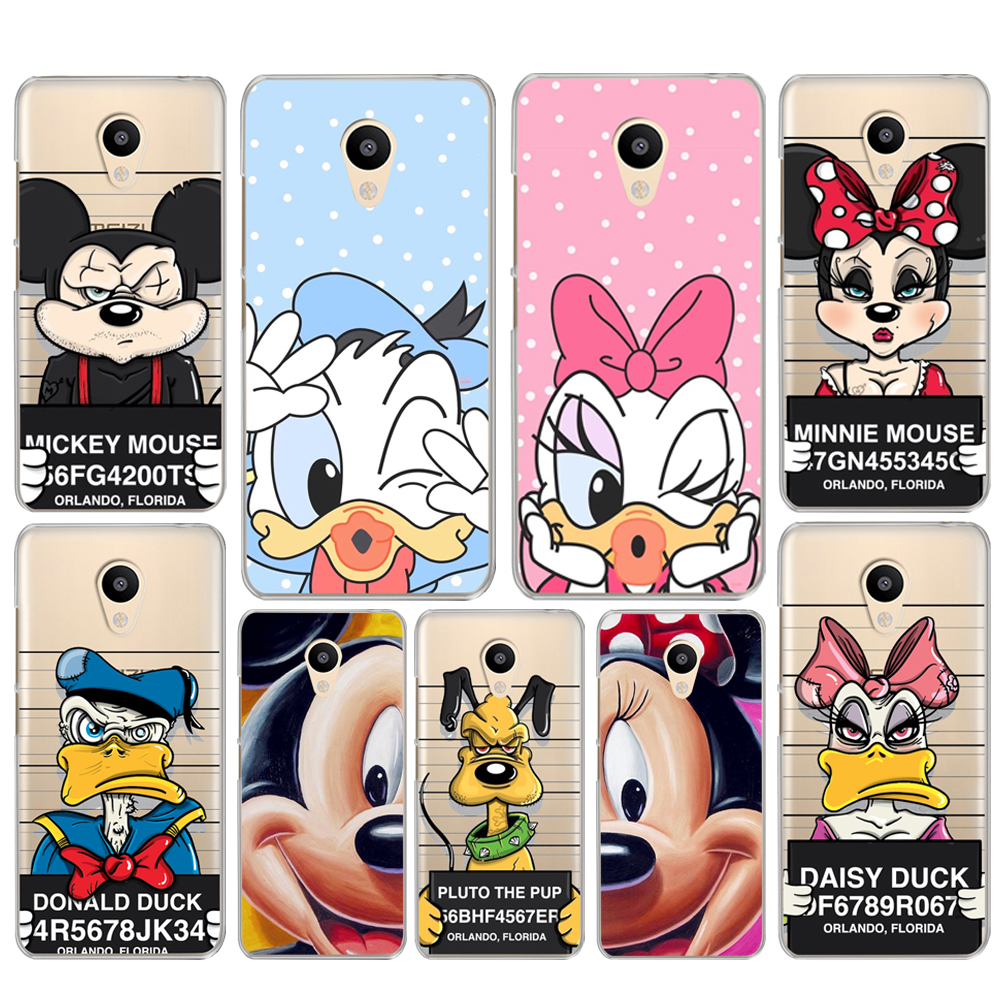 For Coque Meizu M6 Note M3Note Spoof Minnie Mickey Mouse case for M5 Mini M5c M5s M3 M5 M3S Pro6 U10 Slim Cover For U20
