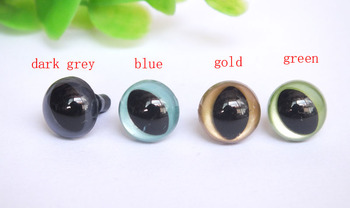 wholesale 100pcs/lot 12mm pearl color safety eyes/cat eyes with washer
