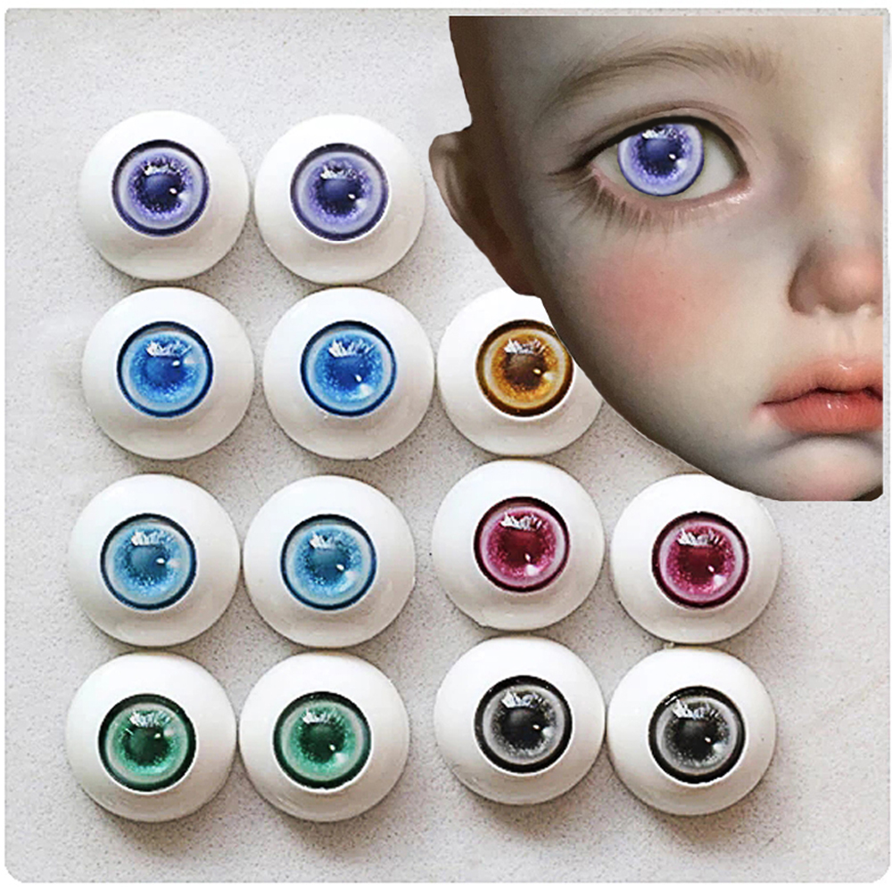 Bjd 6 Color Comic Eyeball 12mm14mm 16mm 18mm 20mm 22mm Acrylic Eyeball  BJD Doll Handmade No Pupils  BJD Eyes 1/4 1/6 SD Doll