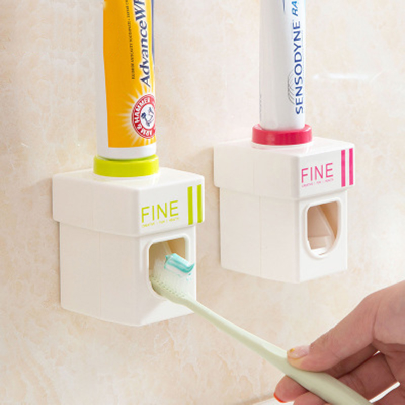 3 color Creative Automatic Toothpaste Dispenser Wall Mounted Toothpaste Holder Bathroom Accessories Brushing Toothpaste Squeezer
