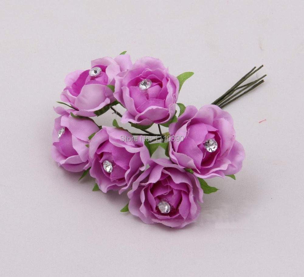 3cm mini artificial silk flowers bouquet with crystals pealreal 3cm mini artificial silk flowers bouquet with crystals pealreal touch roses bridal bouquetsdiy hair accessoriesheads garland in artificial dried mightylinksfo