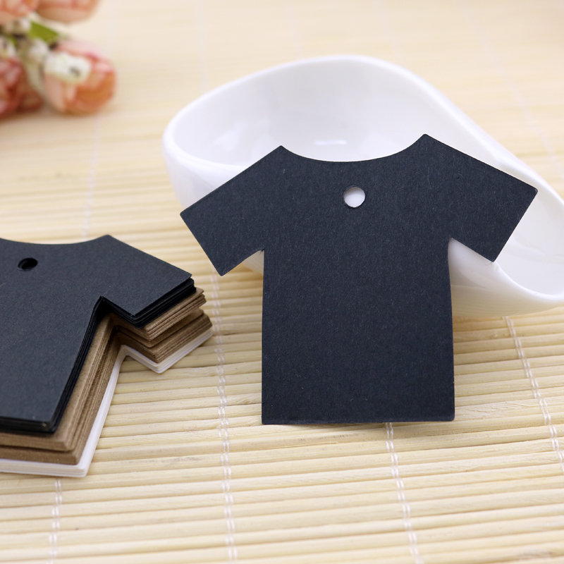 100pcs/lot Thick Kraft Paper Hand Tag Clothes Design 7x5.5cm Jewelry Display Card/Tags Earring Card Free Shipping