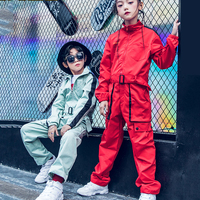 Fashion Unisex Children'S Jazz Dance Costume Jumpsuit For Boys Girls Hip Hop Costumes Tide Street Dancing Show Clothing DWY1024
