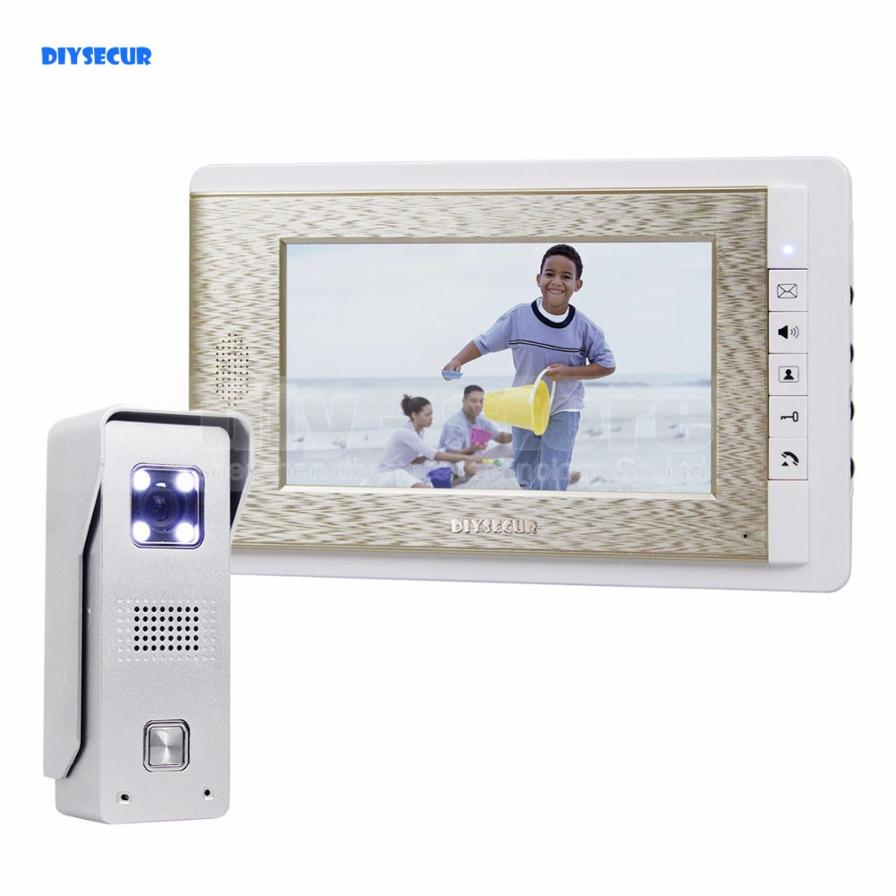 DIYSECUR 7 Wired Video Doorbell Intercom Home Security 700TVL Camera Fashionable Monitor