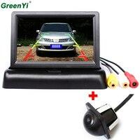 Car Parking Kit With 4 3 TFT LCD Display Fold Car Monitor Rear View Mirror Monitor