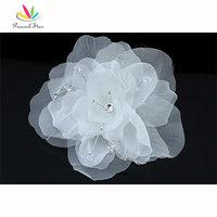 Groothandel Bruidsmeisje Bridal Prom Tovenaar Wit Handgemaakte Haar Bloem CT1572