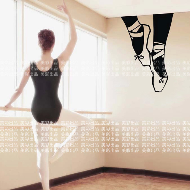 Free Shipping Ballet shoes Dance Wall Stickers Sports Wall Decors Wall covering, Ballet Wall Decal Home Decoration