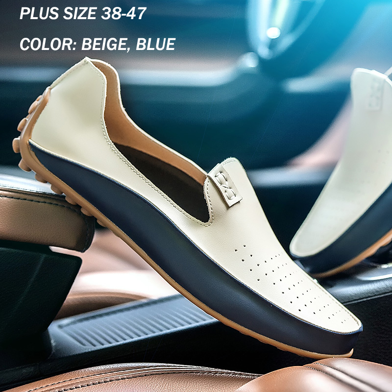 Summer Men Genuine Leather Loafers Hollow Out Breathable Causal Flats Moccasins Men Soft Slip on Driving Shoes Plus Size 39-47 big size 39 48 men flats summer genuine leather loafers breathable driving shoes moccasines slip on male casual shoes xk032808