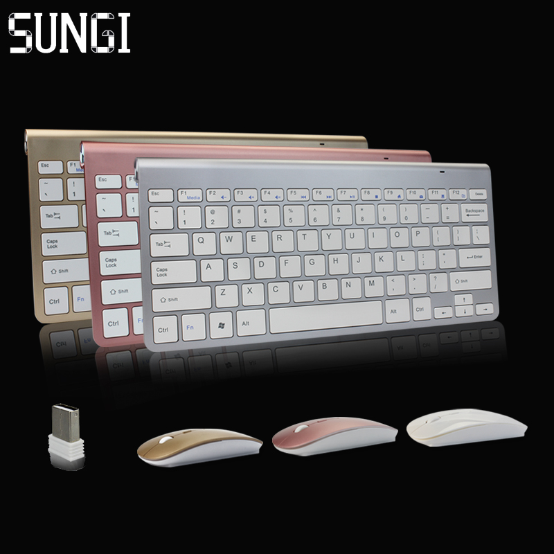 Sungi 2.4Ghz Tastatură wireless ultra-subțire și mouse Combo cu receptor USB Tastatură mouse-ul 612 pentru Apple PC WindowsXP / 7/8/10